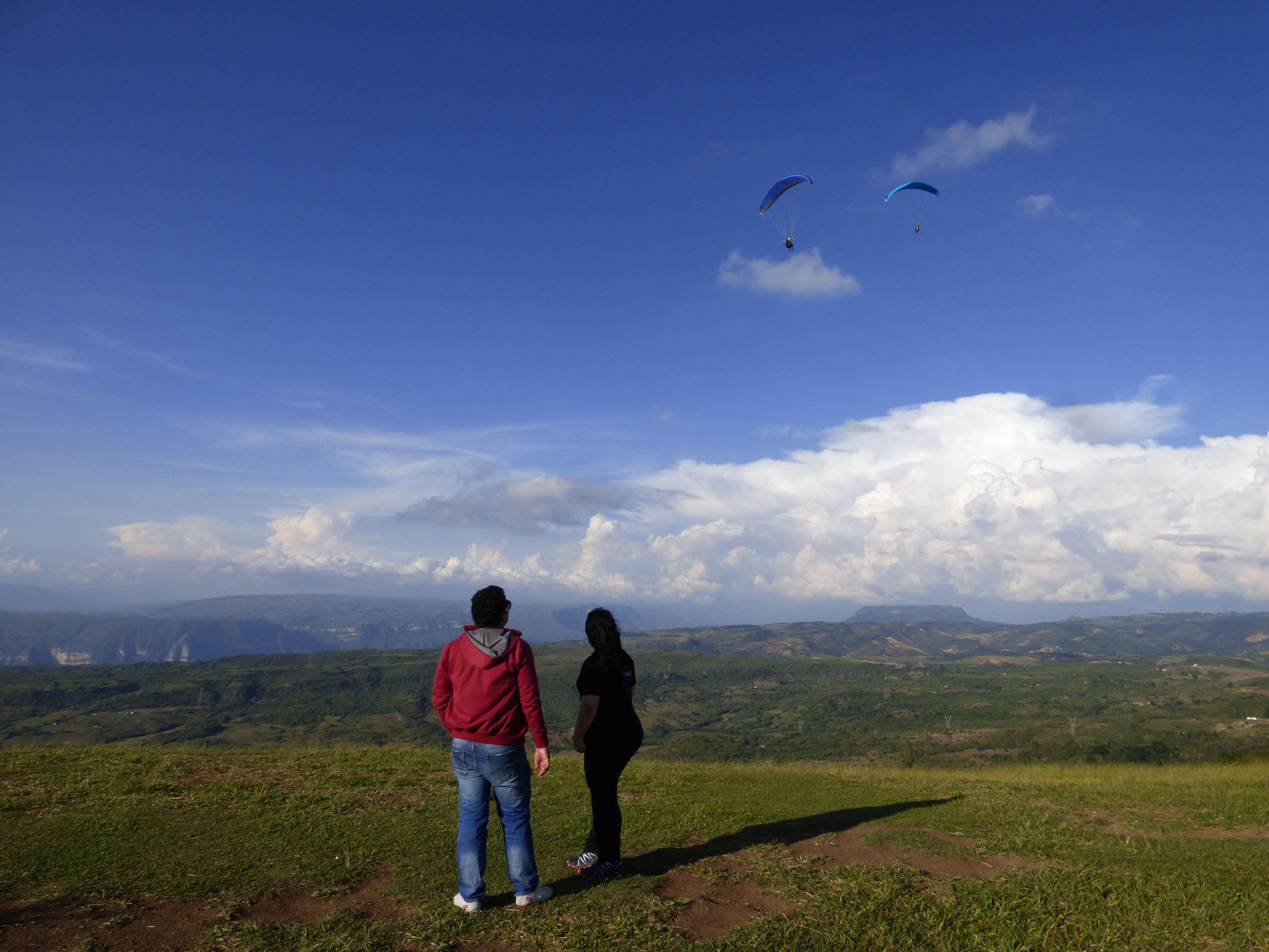 En MI TIERRA Santander Colombia, sensación de Libertad al Límite.