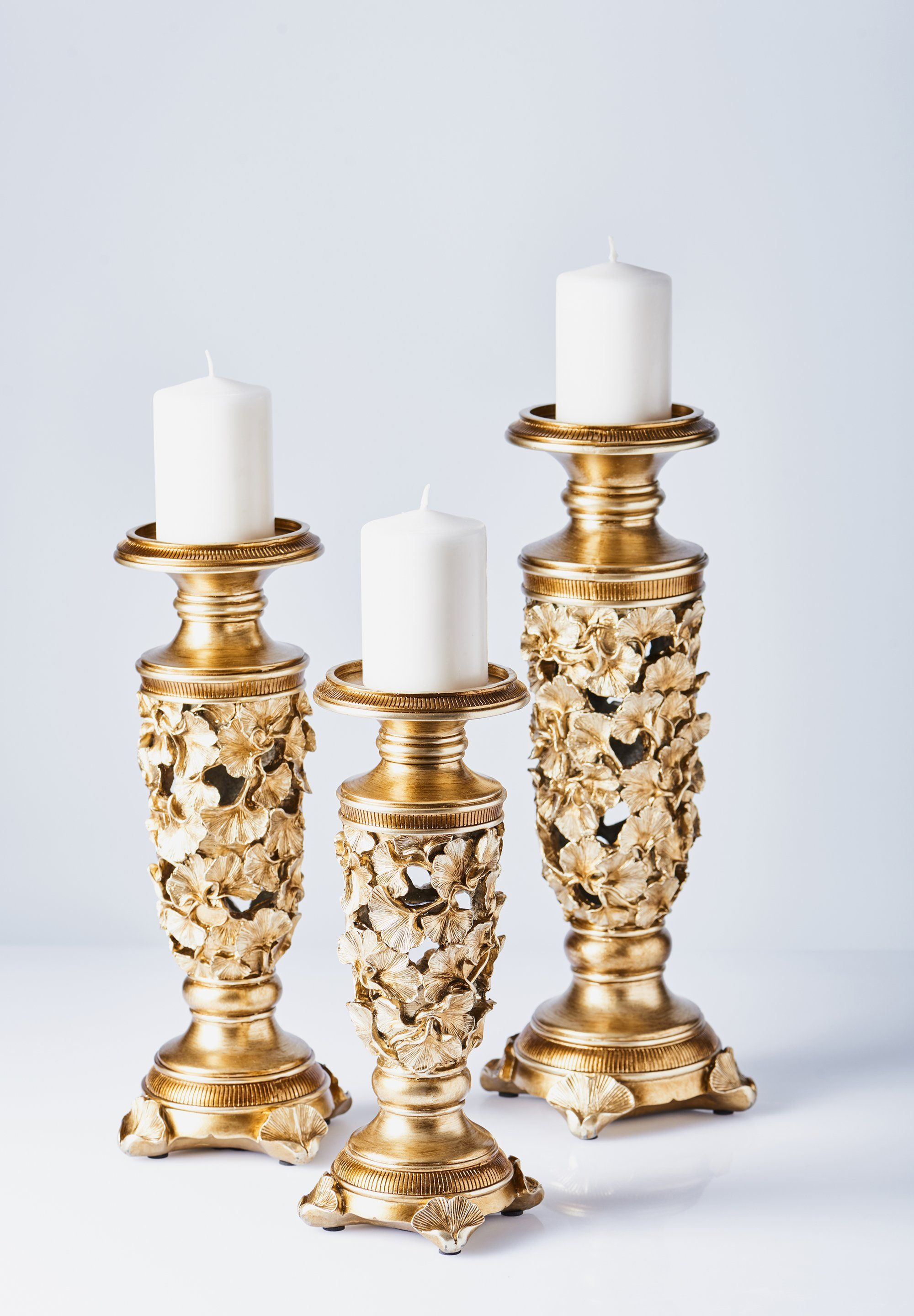 cffeb57fa9 Polyresin Candlestick 3 Piece Set | Products | Candlesticks, Candle ...