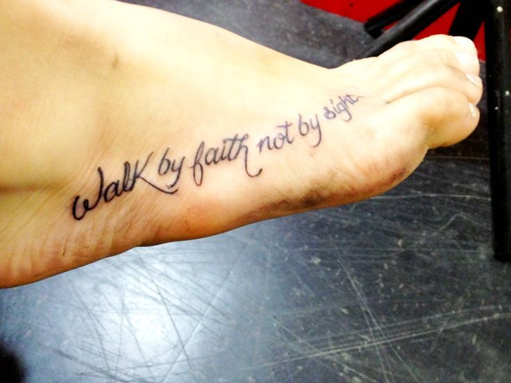 """walk by faith not by sight 