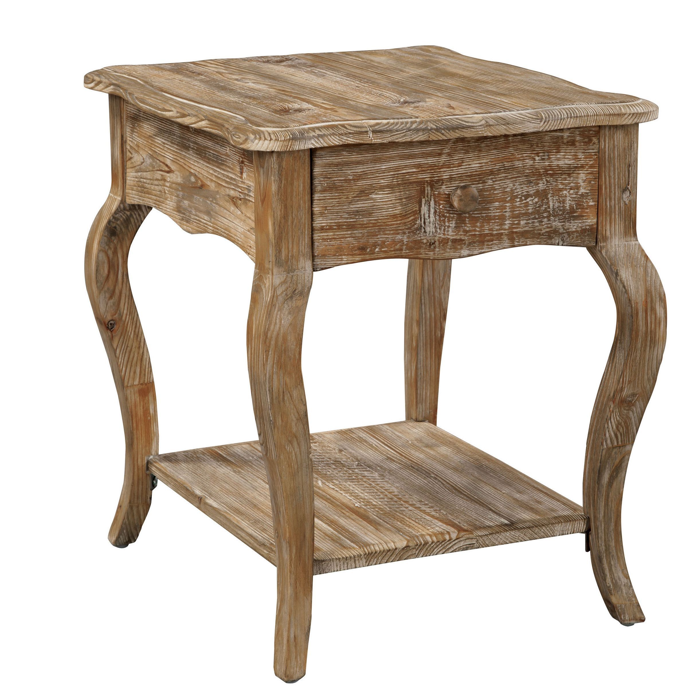 Alaterre Rustic Reclaimed Wood End Table Rustic End Tables Wood