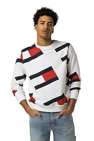 a41278811 TOMMY JEANS FLAG SWEATSHIRT