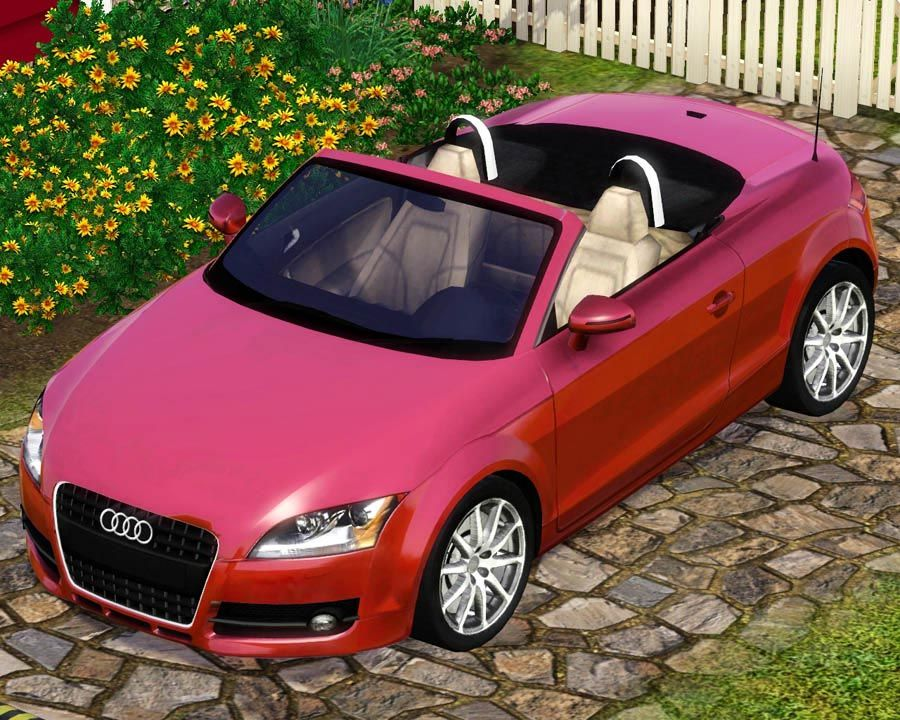 Mod The Sims 2009 Audi TT Roadster Sims, Sims 4, Sims