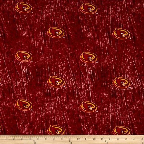 Iowa State University Cyclones Collegiate Tie Dye Cotton Fabric 1/4 Yard, 9 x 44 Sports Team 100% #iowastateuniversity