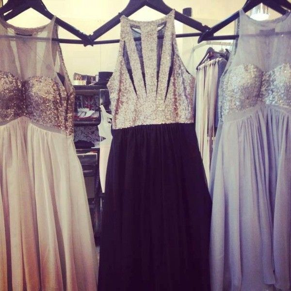 Get this dress on @Wheretoget or see more #dress #black_dress #gold_sequins #stunning #long_prom_dresses