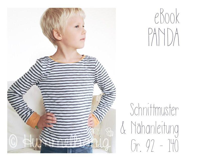 Ebook Shirt Panda | Inspiration - Nähen für Kinder | Pinterest ...