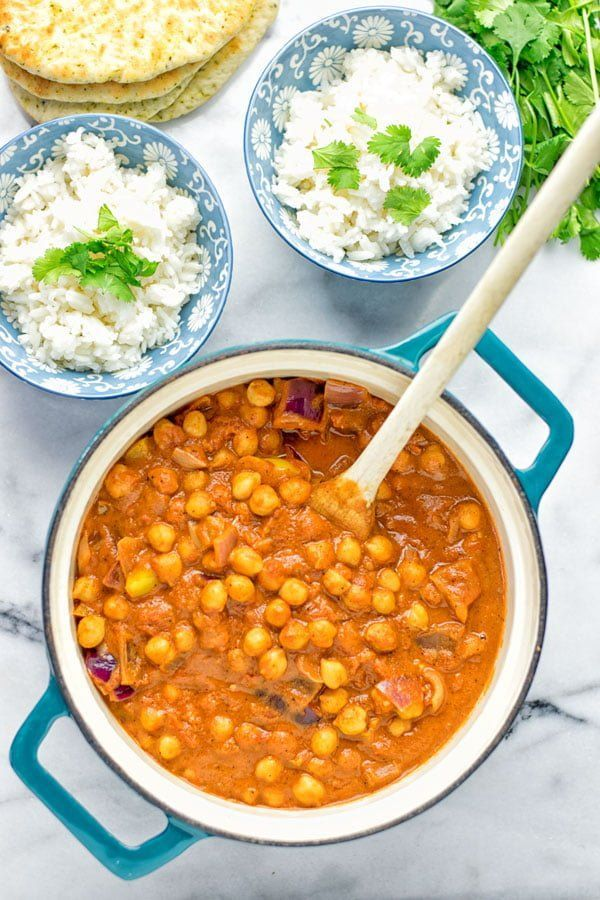 Tikka Masala Chickpea Tikka Masala - amazingly tasty and satisfying. Made with just 5 ingredients and so super easy to make. Entirely vegan and gluten free.Chickpea Tikka Masala - amazingly tasty and satisfying. Made with just 5 ingredients and so super easy to make. Entirely vegan and gluten free.
