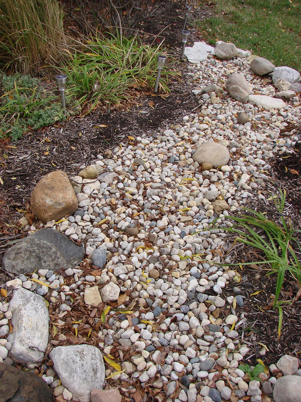 How to Build a Dry Stream Bed | Iowa Gardener Web Articles ...