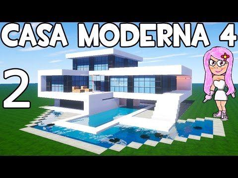Mansi n moderna 2 en minecraft parte 2 como hacer y for Como hacer una piscina pequena en casa