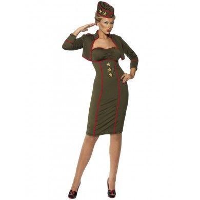 Women S Army Fancy Dress Costume With Jacket Hat