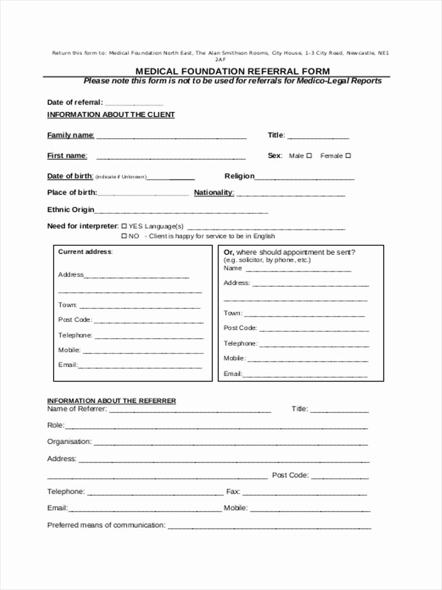 Physician Referral Form Template Awesome Medical Referral Form 8 Free Documents In Word Pdf Peterainsworth Template Word Templates Business Template
