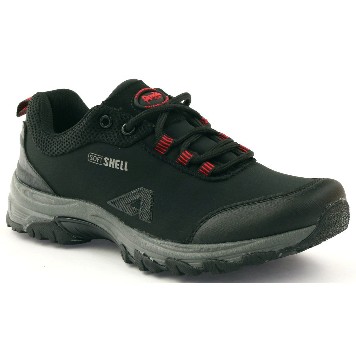American Club American 1775 Buty Damskie Sportowe Softshell Czarne Czerwone Shoes Sketchers Sneakers Sneakers