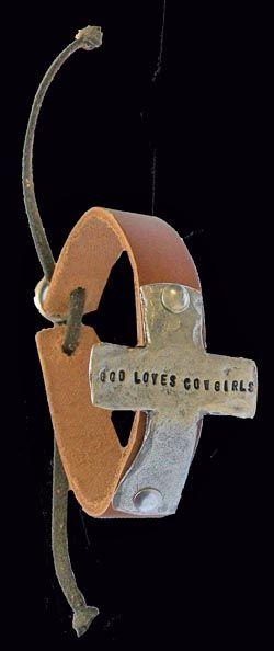 "Sagebrush Sirens: ""God Loves Cowgirls"" Tecate Cross Bracelet- Sirens' Exclusive"