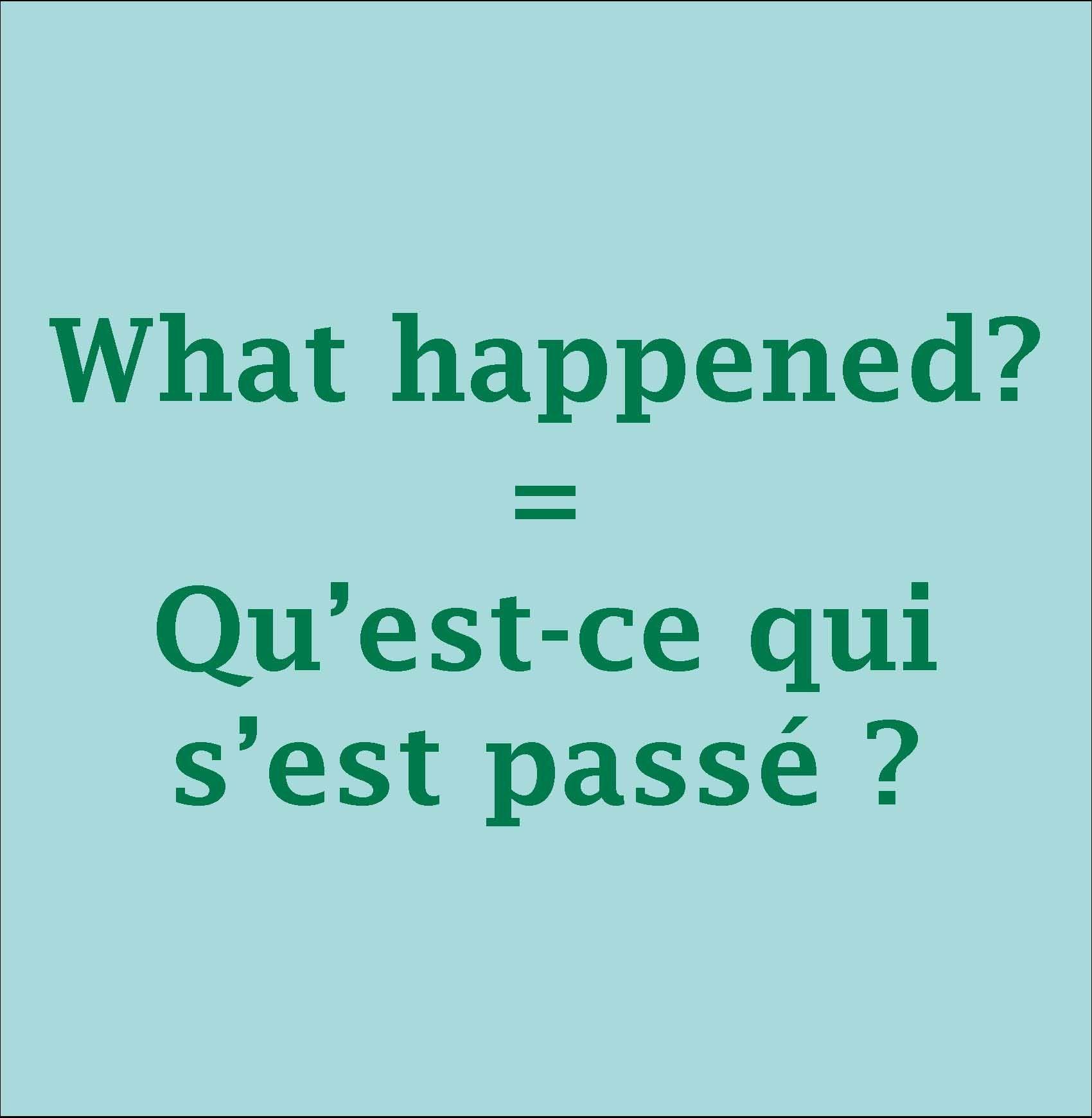 Happened Questce What Sest Pass Quiwhat Happened Qu Est Ce