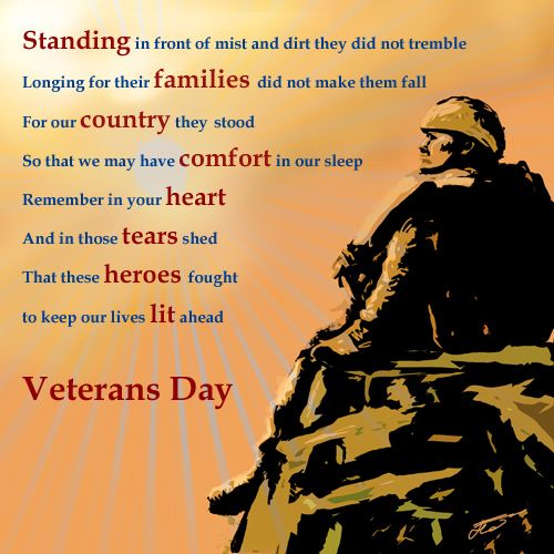 Remembrance Day Short Quotes: Veterans Day Thank You Poems
