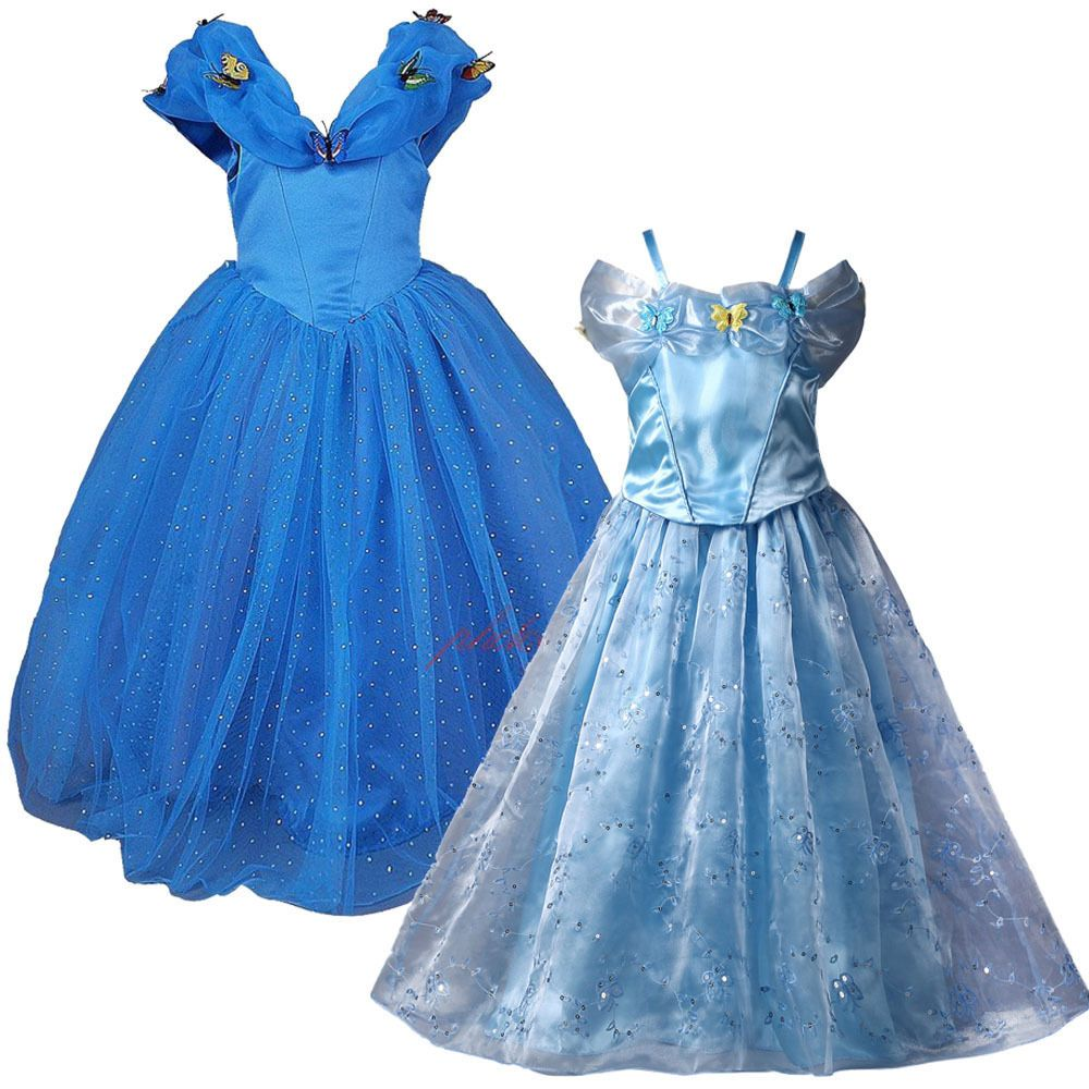 FREE SHIP Girls Cinderella Fancy Dress Costume Kids Princess Party ...