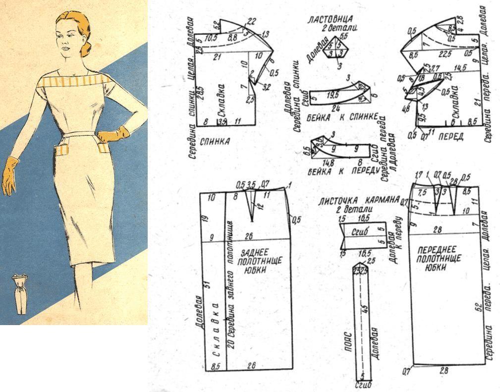 Расход ткани на платье размер 48