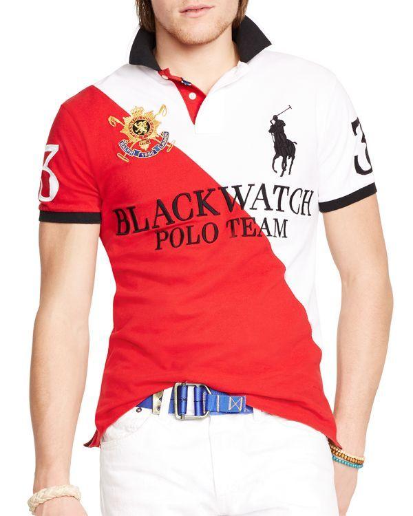 Watch Fit Slim Toned Ralph Polo Shirt Custom Lauren Black Two 43j5ARL