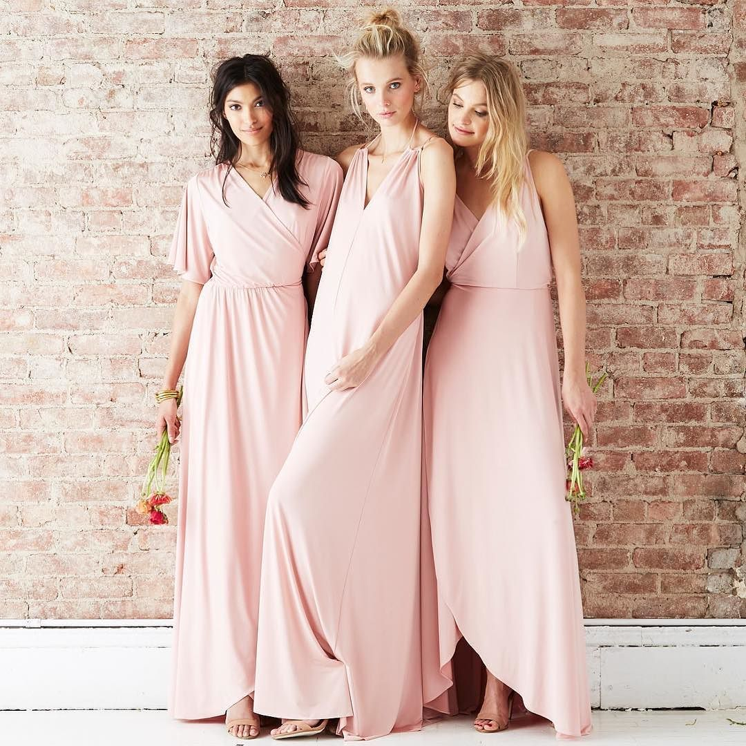 Blush pink bridesmaid dresses by twobirds Bridesmaid | twobirds on ...