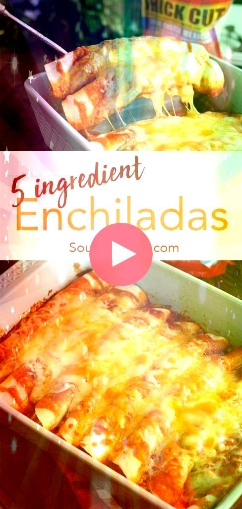 quick and easy enchiladas only call for 5 ingredients and are ready in no time Its the perfect recipe for a busy weeknightThese quick and easy enchiladas only call for 5...