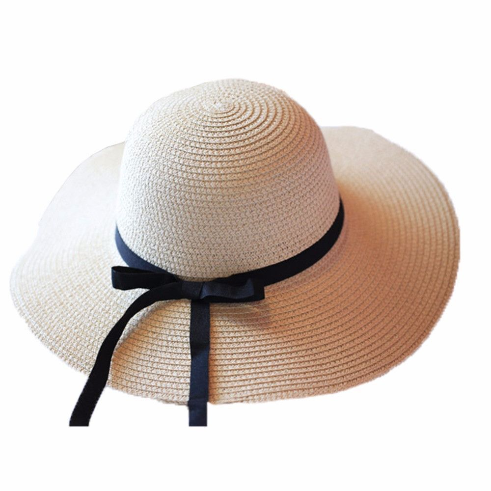 fashionable Women/'s Brim Summer Beach Sun Hat Straw floppy Elegant Bohemia cap