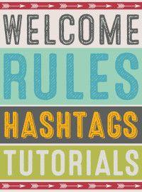 ScrapPin Rules, Hashtags & Tutorials