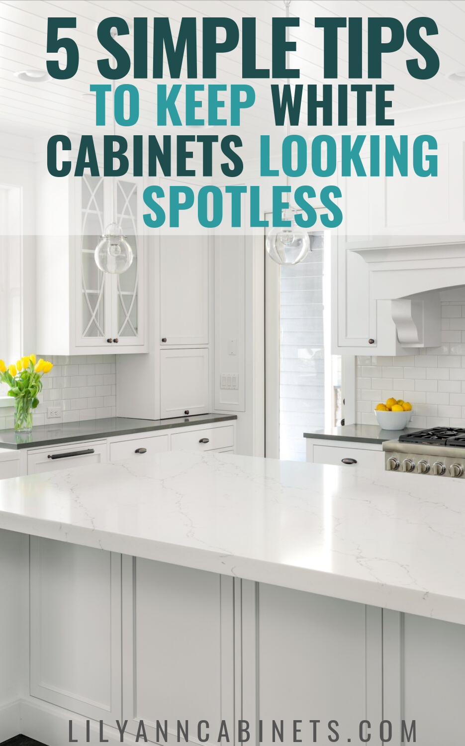 How To Keep Your White Kitchen Cabinets Spotless White Cabinets Paint Cabinets White White Kitchen Cabinets