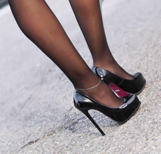 Black high heels gallery, lets gangbang her