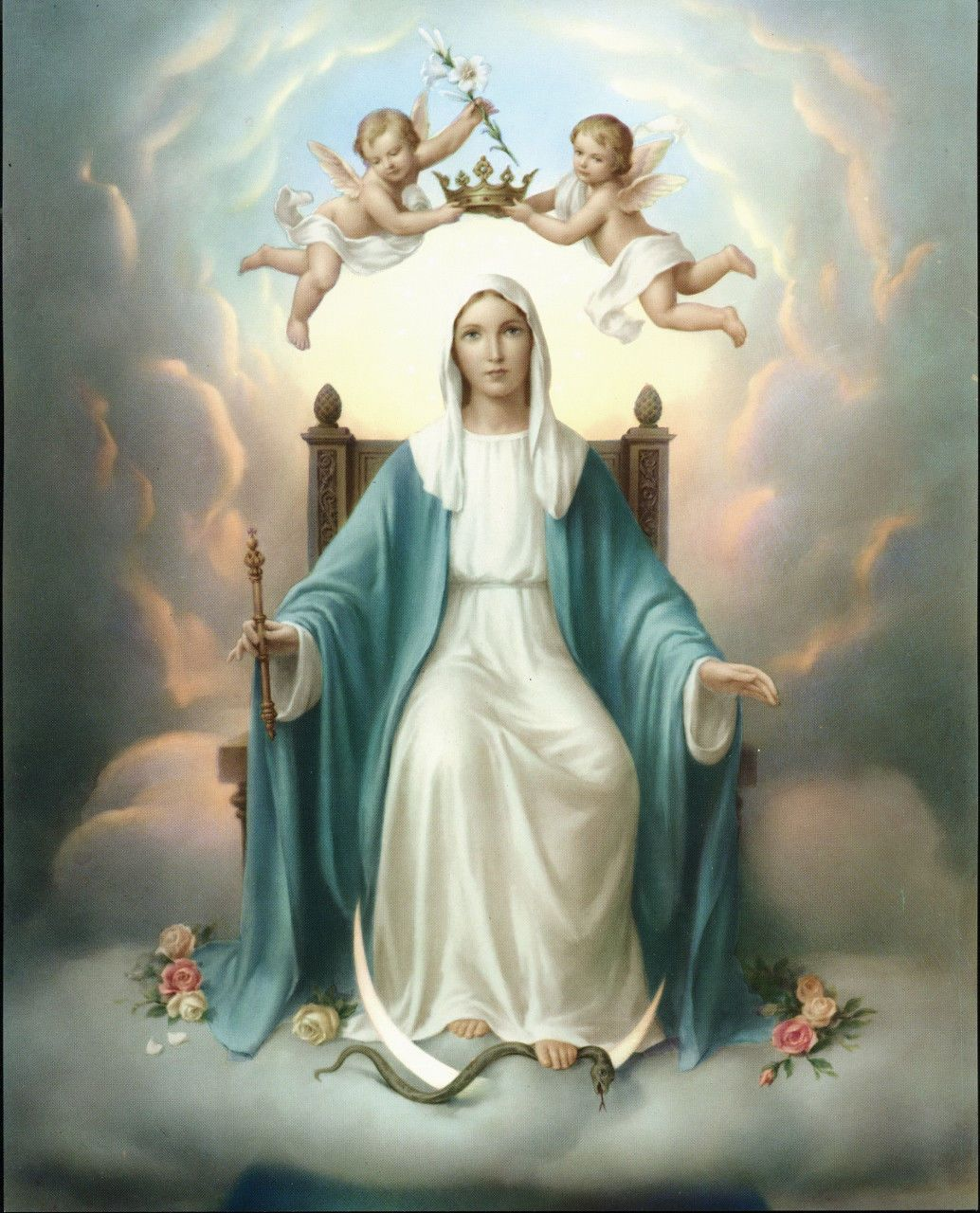 "8"" X 10"" Catholic Religious Art Print Queen Of"