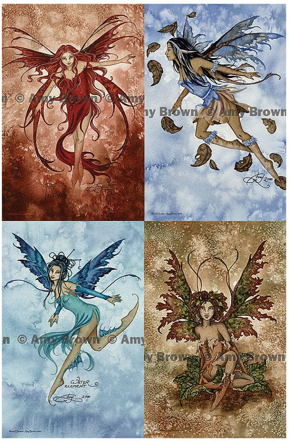 Amy Brown Wind Element Fairy Clearance Four Elements