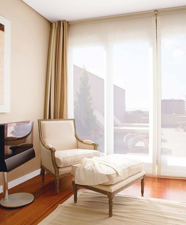 Cortinas beige y estor blanco dise os de cortinas for Cortinas para salon blanco y gris