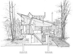 住空間の断面図1 建築デザイン 建築 空間デザイン