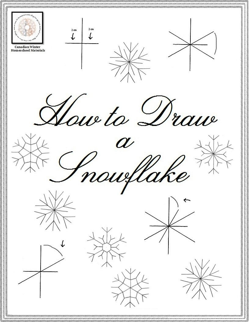 Workbooks protractor practice worksheets : FREEBIE: How To Draw A Snowflake | Freebies | Pinterest | Protractor