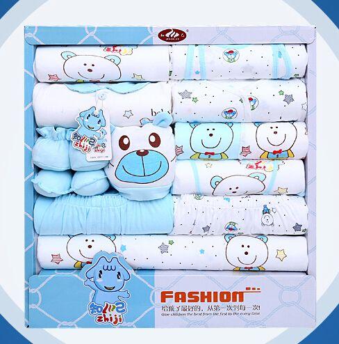 100% cotone vestiti appena nati del bambino cofanetto regalo del bambino prodotti del bambino appena nato set 18 pz per 0-12 mesi bambino