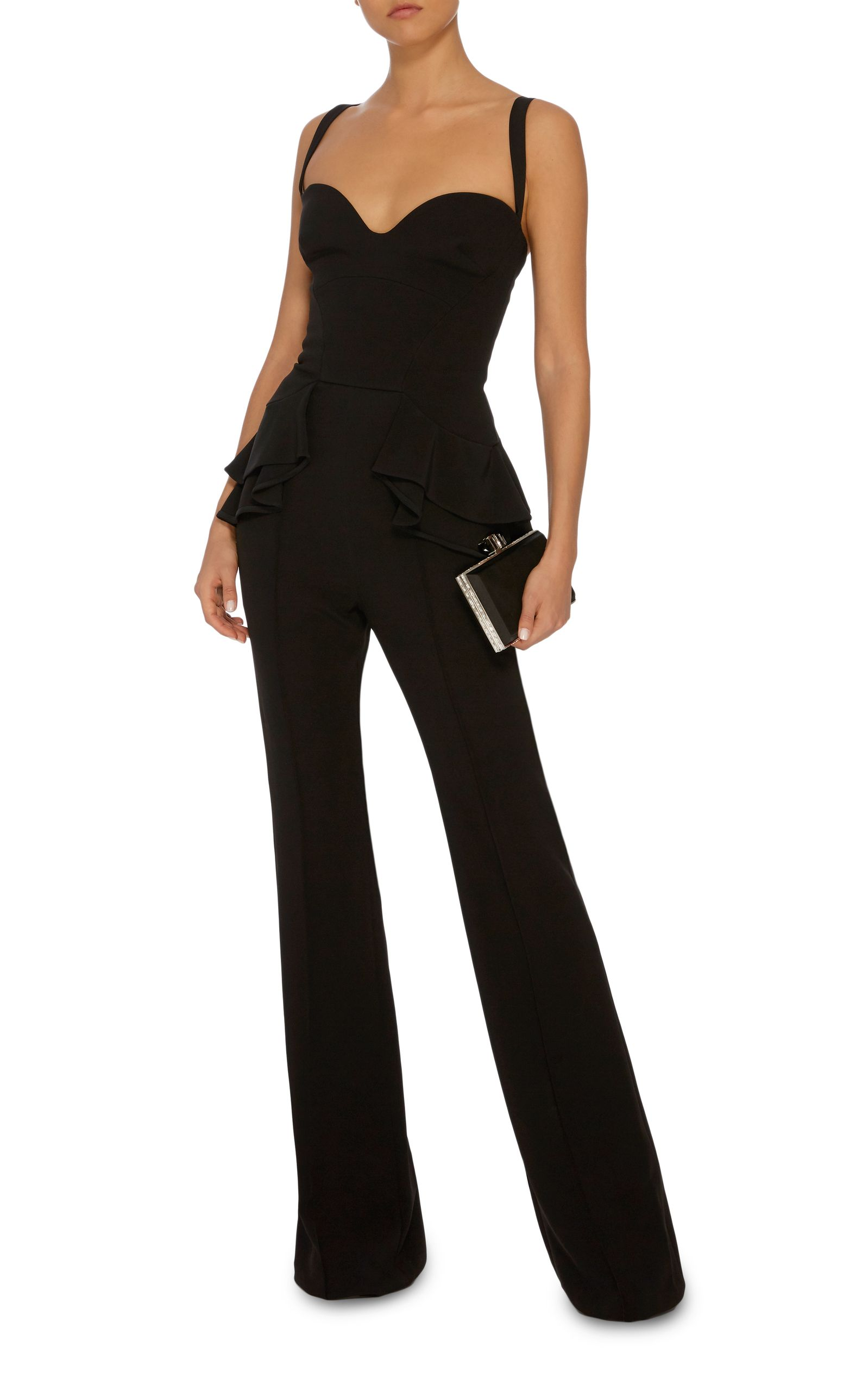 429452728c47 Peplum Jumpsuit by ELIE SAAB Now Available on Moda Operandi