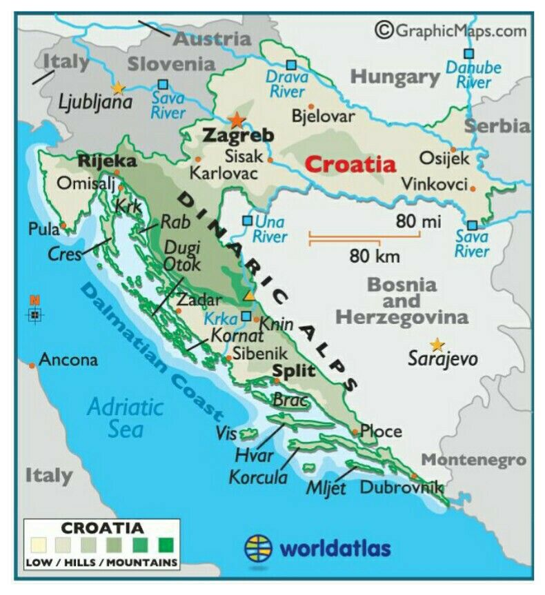 Pin By Janine Johnston On Travel Europe Eastern Croatia Map Croatia Croatia Holiday