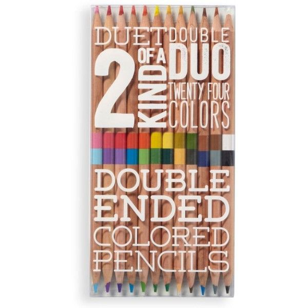 2 Of A Kind Colored Pencils ($9.95) ❤ liked on Polyvore featuring home, home decor, office accessories, colored pencils and coloured pencils