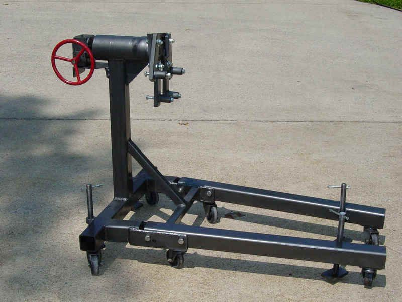 Engine Stand Designs : Diy home built engine stand great idea for an