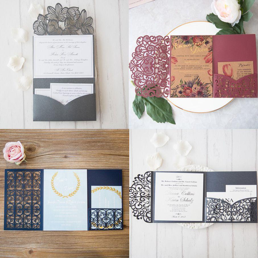 Neu Laserschnitt Pocket Hochzeitskarten Muster Und Infos Unter