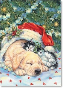 Holiday Card - Warm and Friendly Wishes for a Wonderful Holiday Season. | Donna Race | 2003560-P | Leanin' Tree