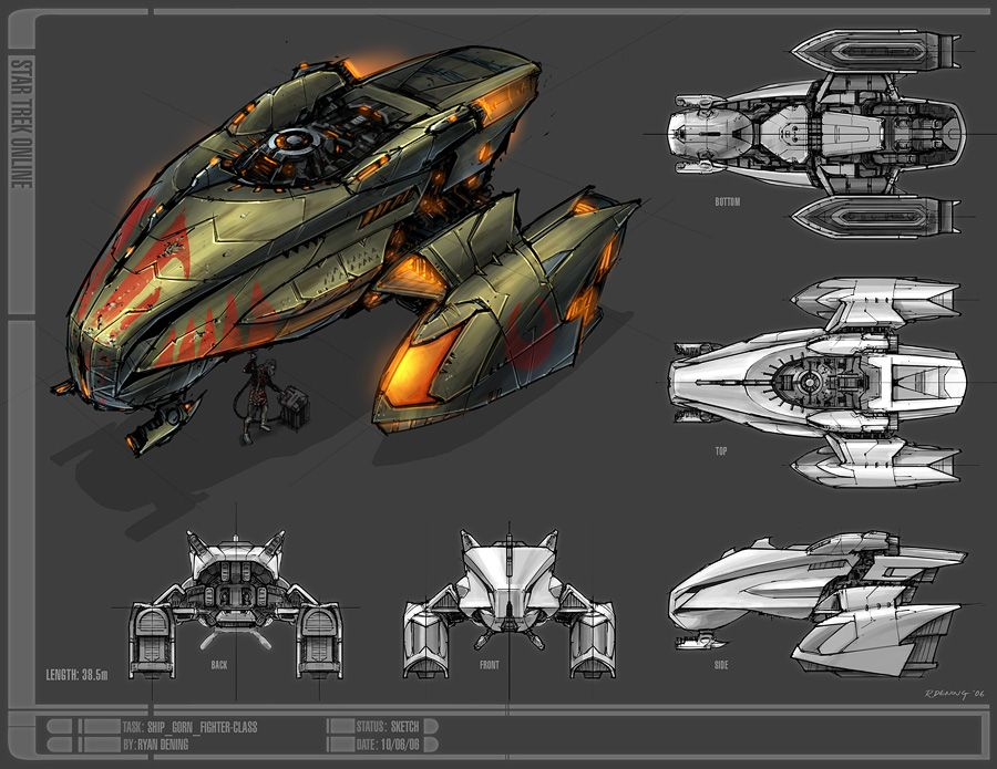 Sto Concept Art Gorn Ship From A To B Star Trek Online Star
