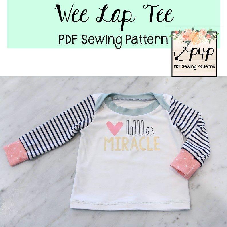 Free Wee Lap Tee | Baby Sewing | Pinterest