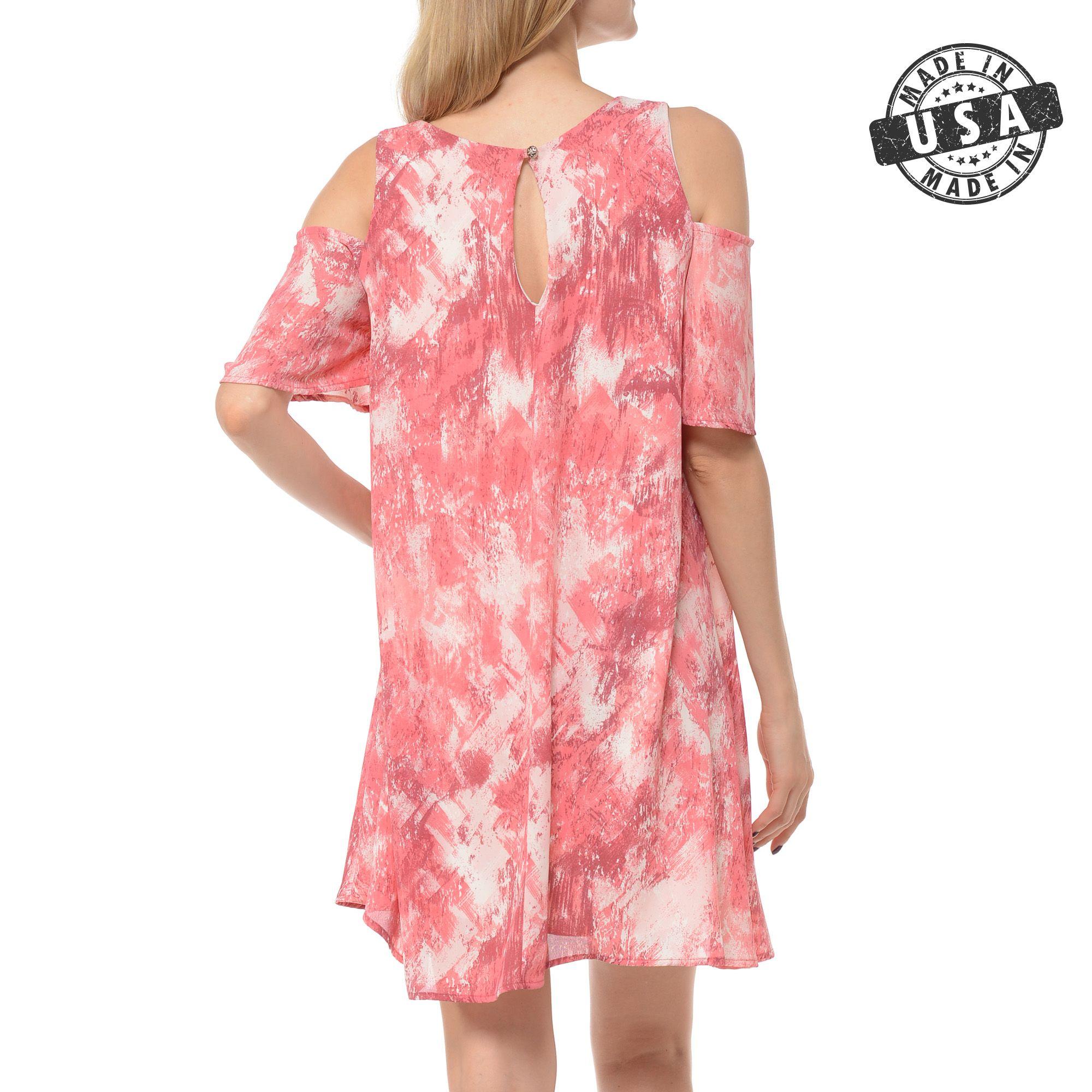 Basico Women S Open Cold Shoulder Semi Casual Flowy Mini Dress Made In Usa Walmart Com Flowy Mini Dress Short Sleeve Mini Dress Flowy Dress Short [ 2000 x 2000 Pixel ]