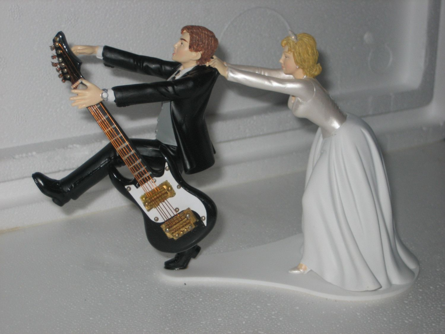 wedding cake topper man with guitar guitar themed wedding cake topper groom by 26352