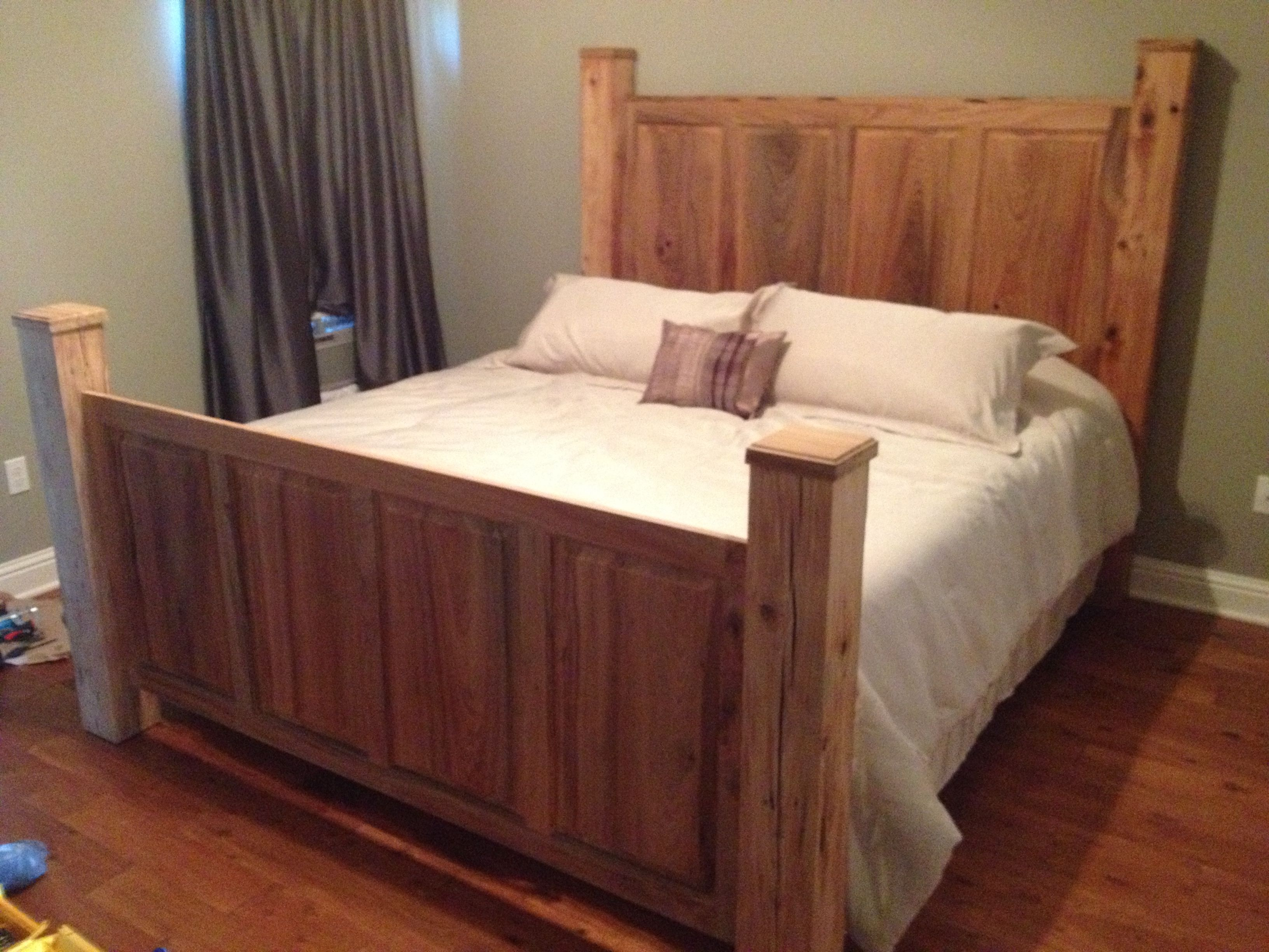Custom sinker cypress headboard and footboard! Beautiful! :) | For ...