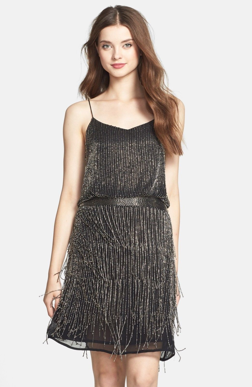 Fringe Blouson Dress