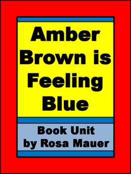 Amber Brown is Feeling Blue Book Unit   Book Inspired ...
