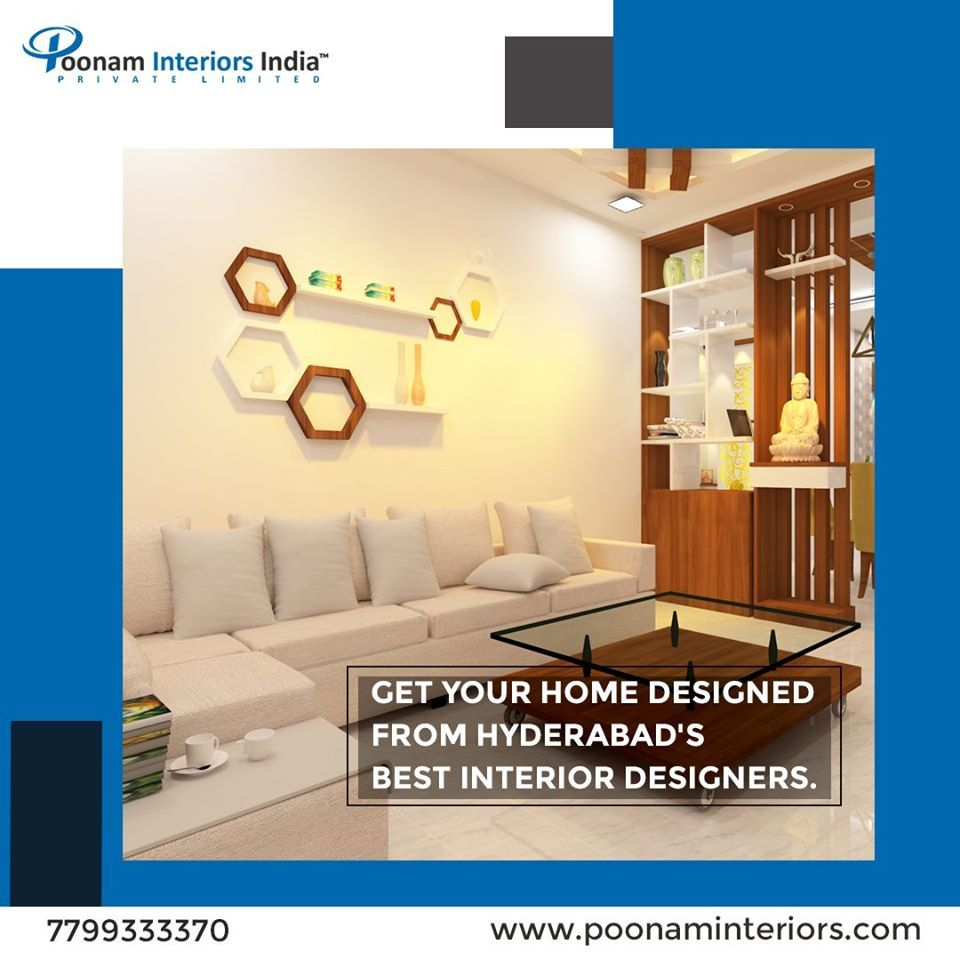 Get your home designed from Hyderabad's best interior designers.  Book your free design consultation today at www.poonaminteriors.com or Call 7799333370  #InteriorsMadeEasy #HomeInteriors #BeautifulSpaces #Interiors #Decor #HomeInteriors #poonaminteriorshyderabad