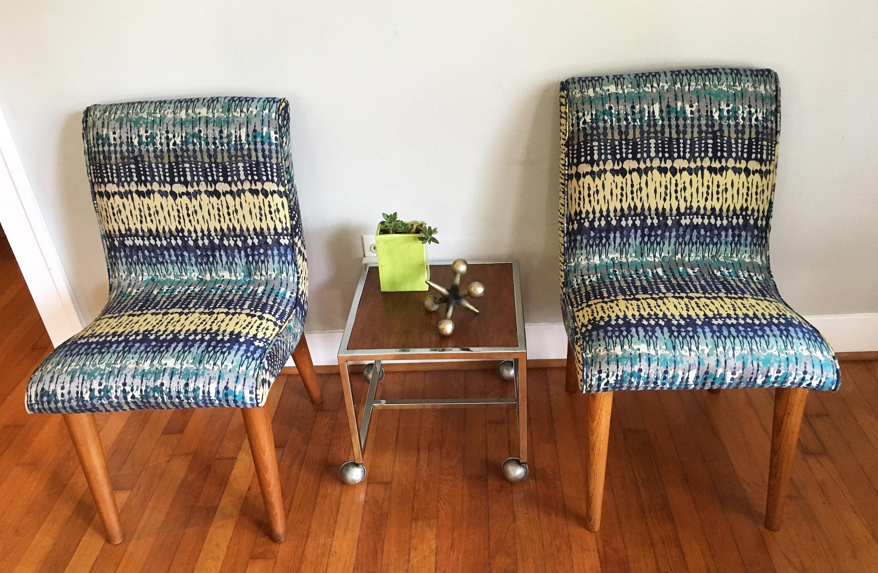 Vintage armless chairs - Pair Of Russell Wright For Conant Ball Armless Chairs Vintage Mid Century