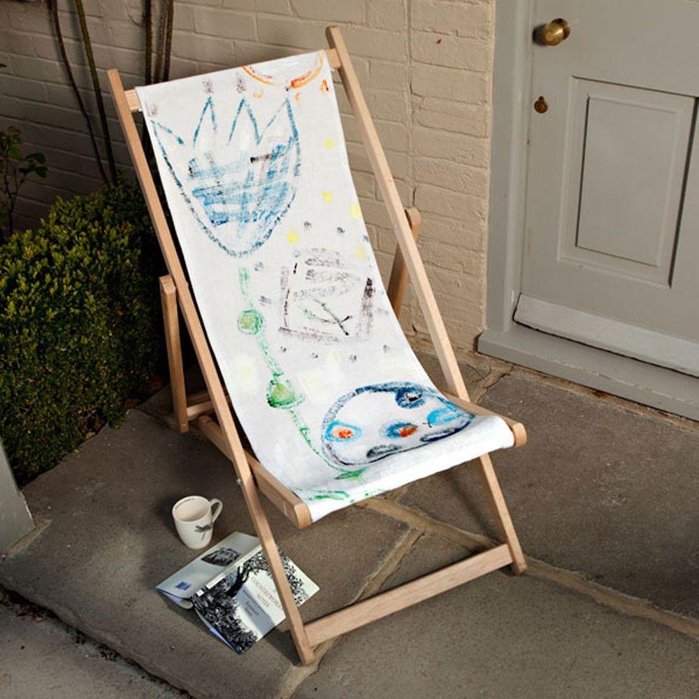 Ana Deckchair - Hand painted unique deckchair