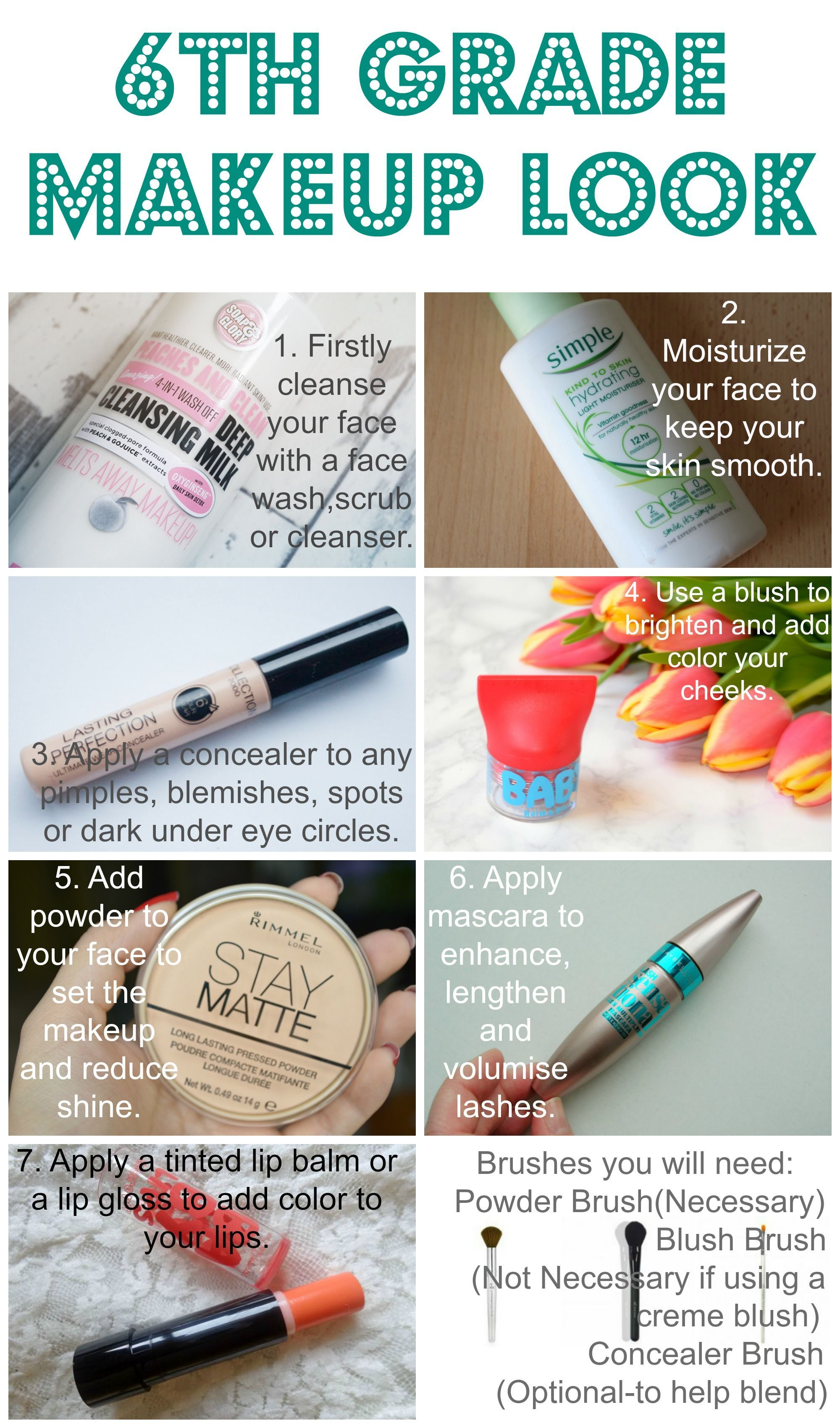 Follow These Steps To Create The Perfect School Makeup For 6th